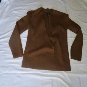 Eileen Fisher Brown Wool Sweater Jacket